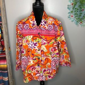 Choices Paisley bright colored jacket XL